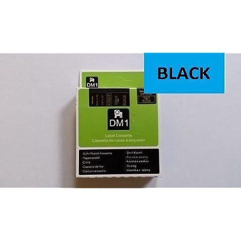 Compatible Dymo D1Serie estándar cinta de etiquetado. Todos los 7m de longitud. Ancho 6mm, 9mm, 12mm, 18mm, 24mm, disponible en todos los colores. Compatible con Muchas Impresoras–ver descripción, color 24mm BLACK ON BLUE