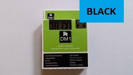 COMPATIBLE DYMO D1 SERIES STANDARD LABELLING TAPE. 12mm X 7m - BLACK ON BLUE 45016