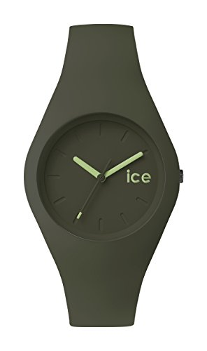 ICE-Watch - ICE.FT.OLV.U.S.14 – Ice Forest Olive Unisex Quartz Analogue Watch – Green Dial – Green Silicone Strap