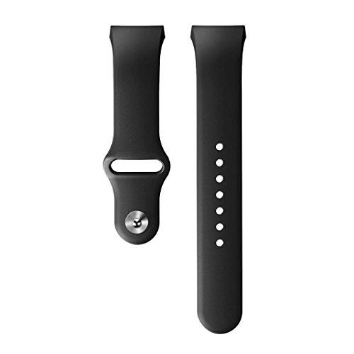 Transer® Samsung Galaxy Gear S2 SM-R720 Smart watch Ersatz Uhrenarmbänder Fashion Sport Weiche Silikon Uhrenarmband Metall Buckle Langlebig Bügel Armband für Uhren Länge: 10.5-20.5CM Breite: 2CM (Schwarz)