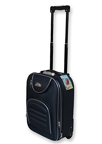 VALIGIA BAGAGLIO A MANO TROLLEY EASY JET RYANAIR EASY JET ECONOMICO LOW COST (BLU)