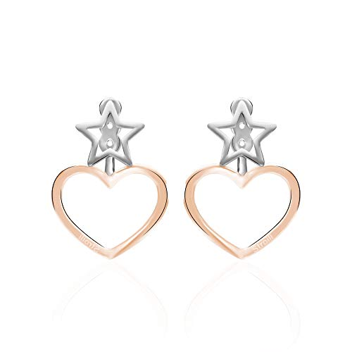 Stroili - Orecchini cuore pendenti in acciaio bicolore per Donna - LOL