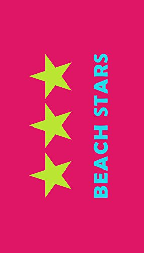 Strandtuch 'Beach Stars - pink' 90x170cm
