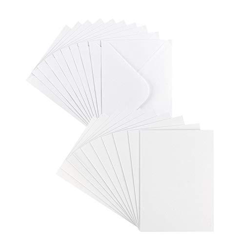 Grußkarten-Set | Perlmutt-Veredelung | 10 Karten ca. 250 g/m² + 10 Umschläge ca. 120 g/m² | In Weiß | 11,5 cm x 16,5 cm (B6) - Faltkarte