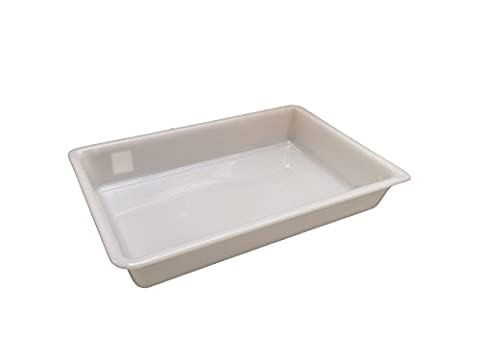 8 Litre (L 480 x W 330 x H 80mm) - White Shallow Nesting Food Grade Storage Tray Commercial Display Box (1)