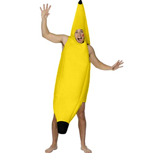LianMengMVP Adulte Unisexe Anime Banane Costume Cosplay Combinaison Pyjama Outfit Nuit Vêtements Onesie Fleece Halloween Carnaval Noël Costume Soirée de Déguisement
