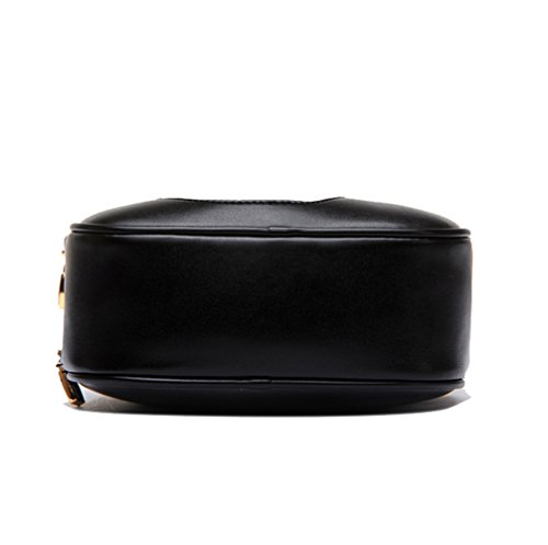 Yimidear borsa portafoglio donna in PU impermeabile a spalla corpo croce a mano nero