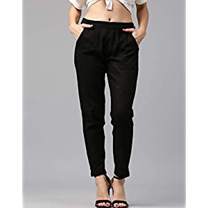 BAWRI Women's Straight Fit Casual Trousers