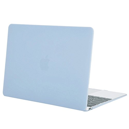 MOSISO Hülle Kompatibel MacBook 12 Retina - Ultradünne Plastik Hartschale Hülle Snap Case Kompatibel MacBook 12 Zoll mit Retina Display A1534 (Version 2017/2016/2015), Air Blau