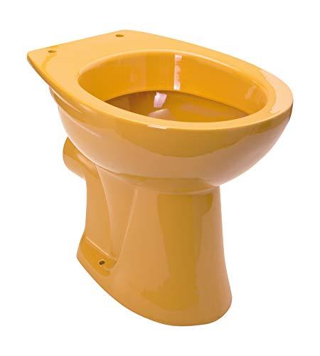 Calmwaters - Universal - Stand-WC in Curry-Gelb mit waagerechtem Abgang als Tiefspül-WC - 07AB2251