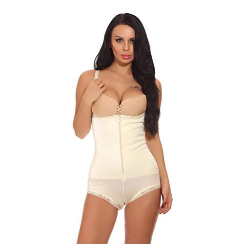ts für Frauen Sexy Dessous Korsett Spitze Unterwäsche One Piece Pyjamas Sanduhr Figur Body Shaper Hochzeitskleid Weihnachtsfeier,Flesh,3XL ()