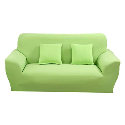 Hotniu 1-Stück Elastisch Sofaüberwurf, Sofaüberzug Polyester, Sofahusse Sofa Abdeckung Stretch, Sofabezug für Sofa, Couch, Sessel zum Schutz, mehrere Farben (3 Sitzer 175-220cm, Grün #2)