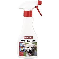 beaphar Schnellwäsche für Hunde & Katzen | Hundeshampoo zum Aufsprühen & Abtrocknen | Katzen ohne Bad Baden | Für unterwegs & auf Reisen | 250ml Sprühflasche