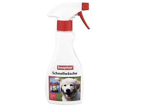 Schnellwäsche für Hunde & Katzen | Hundeshampoo zum Aufsprühen & Abtrocknen | Katzen ohne Bad baden | Für unterwegs & auf Reisen | 250ml Sprühflasche