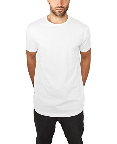 Urban White Shirt (Urban Classics Herren T-Shirt Shaped Long Tee, Weiß (White 220), Large)