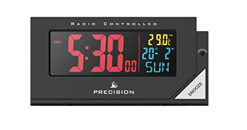 Precision Alarm Clock, Black, One Size Best Price and Cheapest