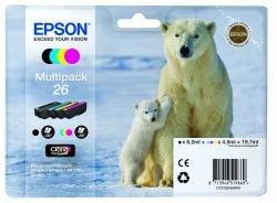 epson xp 620 Epson 26 Multipack - 4er-Pack - Schwarz, Gelb, Cyan, Magenta - Original - Tintenpatrone - für Expression Premium XP-510, 520, 600, 605, 610, 615, 620, 625, 700, 710, 720, 800, 810, 820