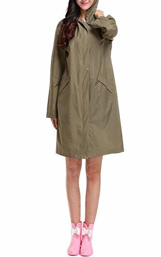 Frauen leicht transportiert wasserdichte Regenmantel Windmantel EVA 1 pro Packung One Size