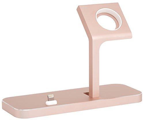 StilGut Ladestation passend für iPhone und Apple Watch 2 in 1 TwinDock, Rosé Gold Rosa Dock