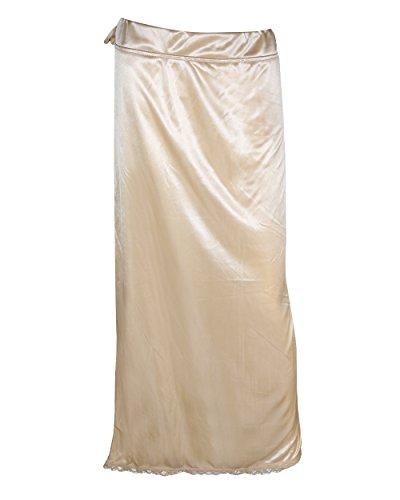 Sara Lycra Shiny-Strechable Beige Petticoat