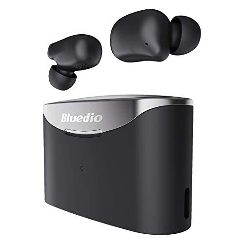 HONGSHAN 5.0 Auriculares inalámbricos Bluetooth Auriculares inalámbricos Verdaderos Auriculares Deportivos estéreo en la Oreja con Estuche de Carga Micrófono Control táctil Función