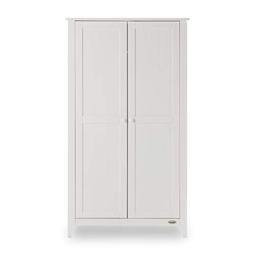 Obaby Belton Double Wardrobe, White Best Price and Cheapest