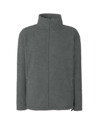 Full Zip Sweat (Full Zip Fleece von Fruit of the Loom Smoke S)