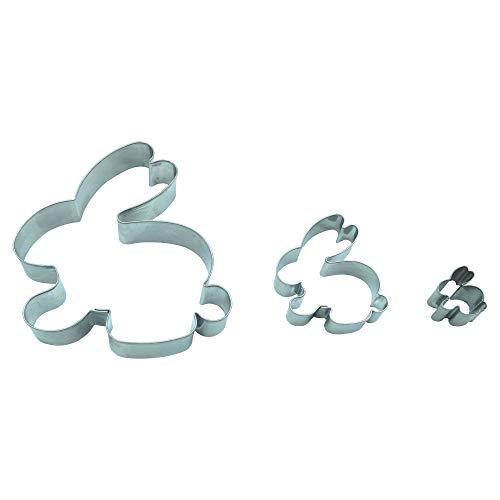 Hase 3er Set Ostern /9,5 cm/ 5,5 cm/ 2,3 cm/ Ausstecher, Ausstechform aus Edelstahl