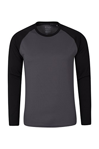 Mountain Warehouse Endurance Mens Long Sleeved Top Black Medium