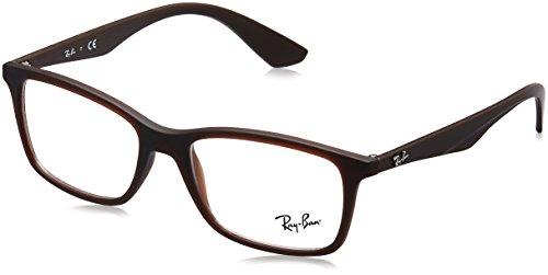 Ray-Ban Herren rx7047 Brille in mattem  transparent RX7047 5450 Schwarz (Negro) - 56