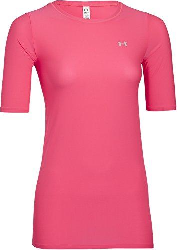 Under Armour Damen Fitness T-Shirt Sun Screener 30 Half Sleeve, Pink Shock, XS (Cross Womens Fitted T-shirt)