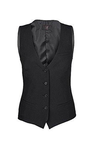 Greiff Damen-Weste, Regular Fit, 8222, schwarz, Größe ()