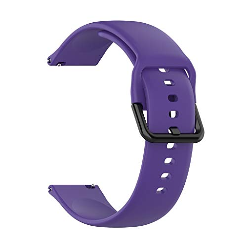 Für Samsung Galaxy Watch Active 2 Armband,Colorful Sport Silikon Ersatzarmband Uhrenarmband Replacement Wechselarmband Watch Band für Samsung Galaxy Watch Active 2, Klein groß (L, Lila)