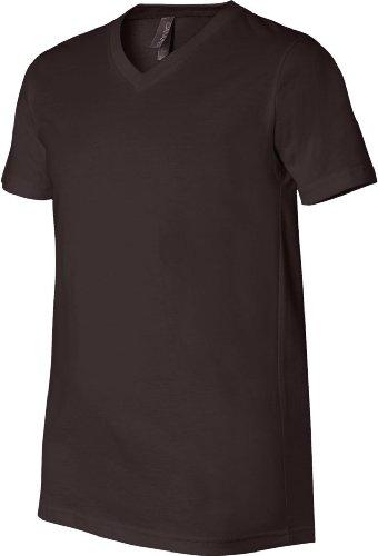 Wei§e Skelett HŠnde auf American Apparel Fine Jersey Shirt Braun