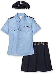 Widmann wdm04014–Kostüm für Erwachsene Polizistin, mehrfarbig, (Kostüm Französische Gendarm)