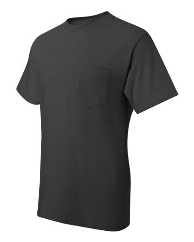 Hanes Men's Beefy-T T-Shirt With Pocket Smoke Gray