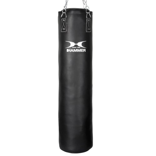 HAMMER BOXING Boxsack Premium Black Kick - Ideal für Box- und Kickbox-Training (Muay Boxsack Thai)