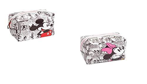Set de 2 Trousse De Bain Voyage Mickey & Minnie Mouse