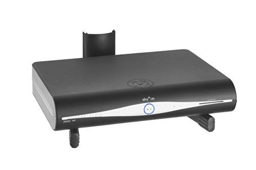 VonHaus - Wandregal -Wandhalterung für DVD Player / PS4 / Kabelboxen / Spielkonsolen / TV Zubehör -  Schwarz