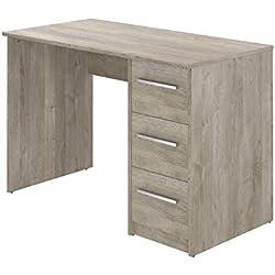 Movian Idro moderner Schreibtisch mit 3 Schubladen, 56 x 110 x 73,5, Eiche