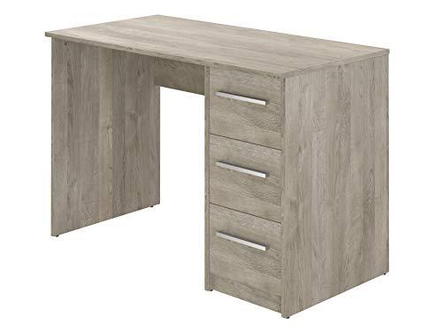 3 Schublade Eiche Schreibtisch (Movian Idro moderner  Schreibtisch mit 3 Schubladen, 56 x 110 x 73,5, Eiche Optik)
