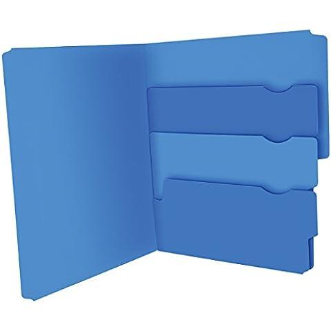 Múltiples sección carpeta de archivo, Pkt, Ltr, 24/PK, valederas, se vende como , 1 paquete