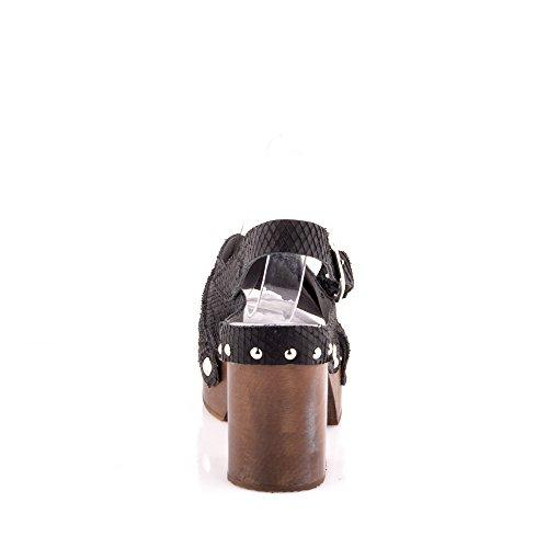 Felmini - Damen Schuhe - Verlieben Artemis 9496 - Peep Toes - Echtes Leder - Schwarz Schwarz
