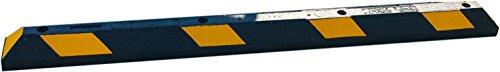 UvV ParkIT18.008 Park-It® Anfahrschutz Radstopp 1800 mm schwarz, gelbe Reflektoren - Extra breite Einzel Gummi Einparkhilfe Garage / Carport. Parkplatzbegrenzer 100{e55875c2f0d698f1c8c754d37815ccdcdcb7395312690bc97d3760f9603c4933} Recycling Gummi Parkbuchtabgrenzung. Original Park-It Qualität aus Amerika
