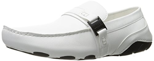 Unlisted by Kenneth Cole Kenneth Cole Unlisted Men's String Along Slip-on Loafer, White, 7. 5 M US