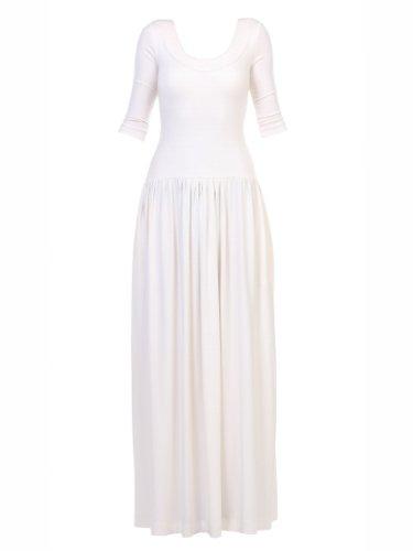 YULIYA BABICH Designer Kleid mit Rundhalsausschnitt YY300015 RAL9016; Ecru