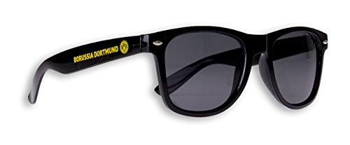 Borussia Dortmund Sonnenbrille BVB Fanbrille verschiedene Varianten (Schwarz)