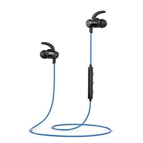 Cuffie Sportive Anker Soundbuds Slim, wireless Auricolari Sportivi in-ear bluetooth earbuds leggere e senza fili, resistenti all'acqua IPX4, con Microfono, per iPhone, iPad, Samsung, Nexus, HTC Huawei e Altro.