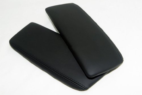 acura-rl-real-leather-center-console-armrest-covers-black-stitch-leather-part-only-by-aaaupholster