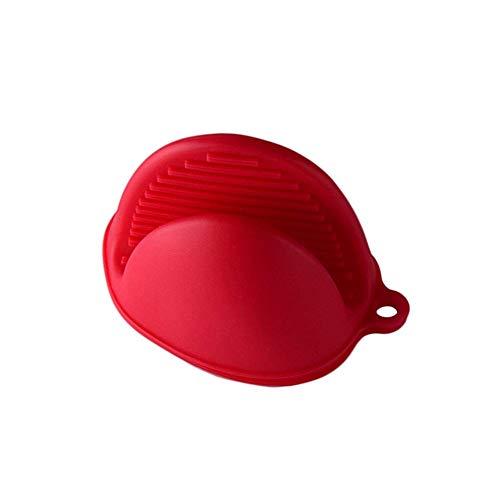 chengJellyLibrary Mini Küchenhandschuhe, Doppel Heiss Topflappen Hitzebeständig rutschfest Clips, Silikon Mikrowellen Ofen Handschuhe - Rot (Doppel Ofen-handschuh Rot)